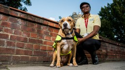 Pets As Therapy volunteer and dog