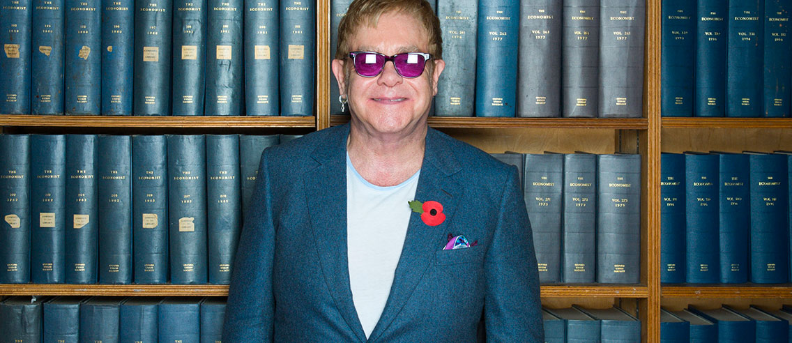Elton John at the Oxford Union