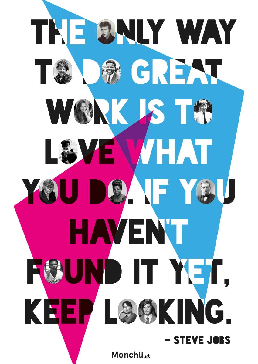 Poster design jobs - Monchu Poster Design Steve Jobs Quote