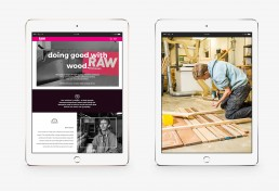 RAW Workshop website, designed and developed by Monchu creative agency.