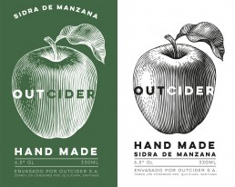 Outcider brand images with logo in 2 colours