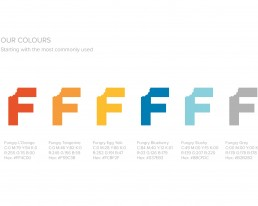 Colour palette for Fungry branding