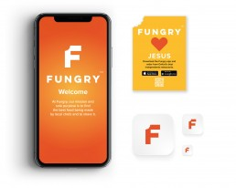 Fungry branding and design