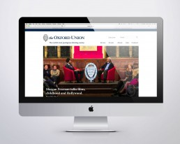 Oxford Union website on Mac