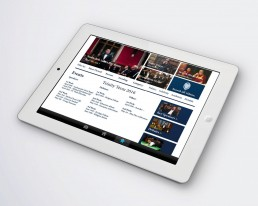The Oxford Union website on iPad