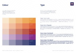 HRCW Brand Guidelines Colour and typography page designed by Monchu