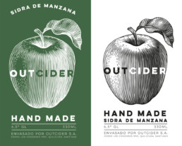 OutCider logo and branding designed by Monchu