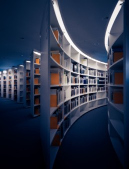 Library Corridor containing research and academic journals